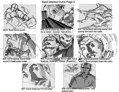 Rough Storyboards-James Bond Bloodstone DS