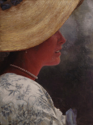 Woman in Straw Hat