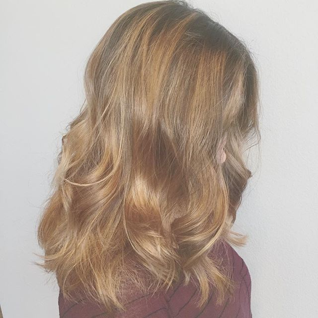 Natural level 4. Balayage ombré toned with Semi 10.7 and Silver