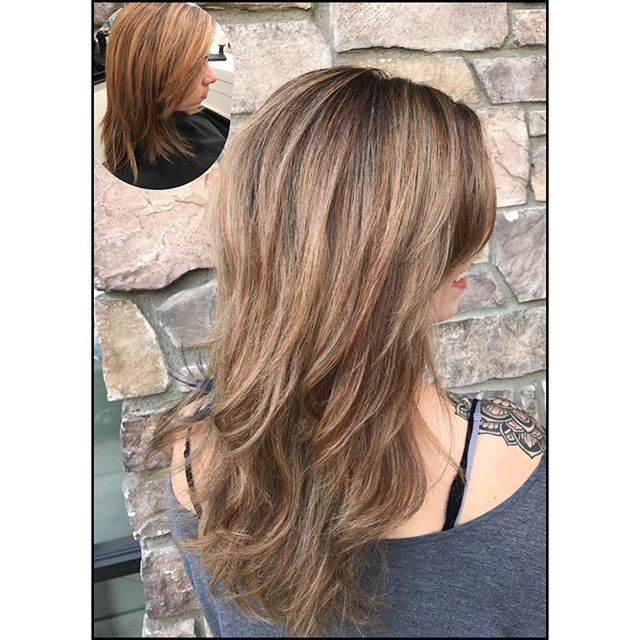 From brassy uneven mess to Bam 💥! Base Tinta 5.19 blended through 2-3_ from scalp. Balayage Creme b