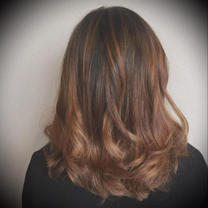 Balayage highlights toned with 6.1 semi and clear