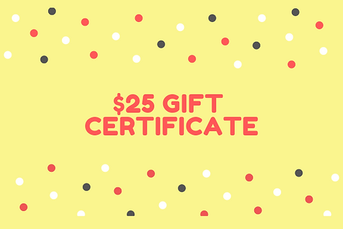 One Day Pass Gift Certificate