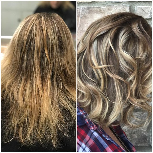 Another look and my before and after. Bond Fusion..