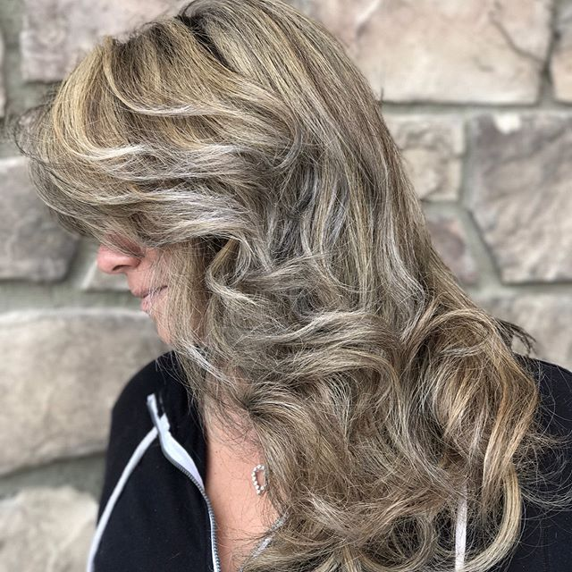 Phase 1 of 2 to platinum highlights. Swipe to see the before