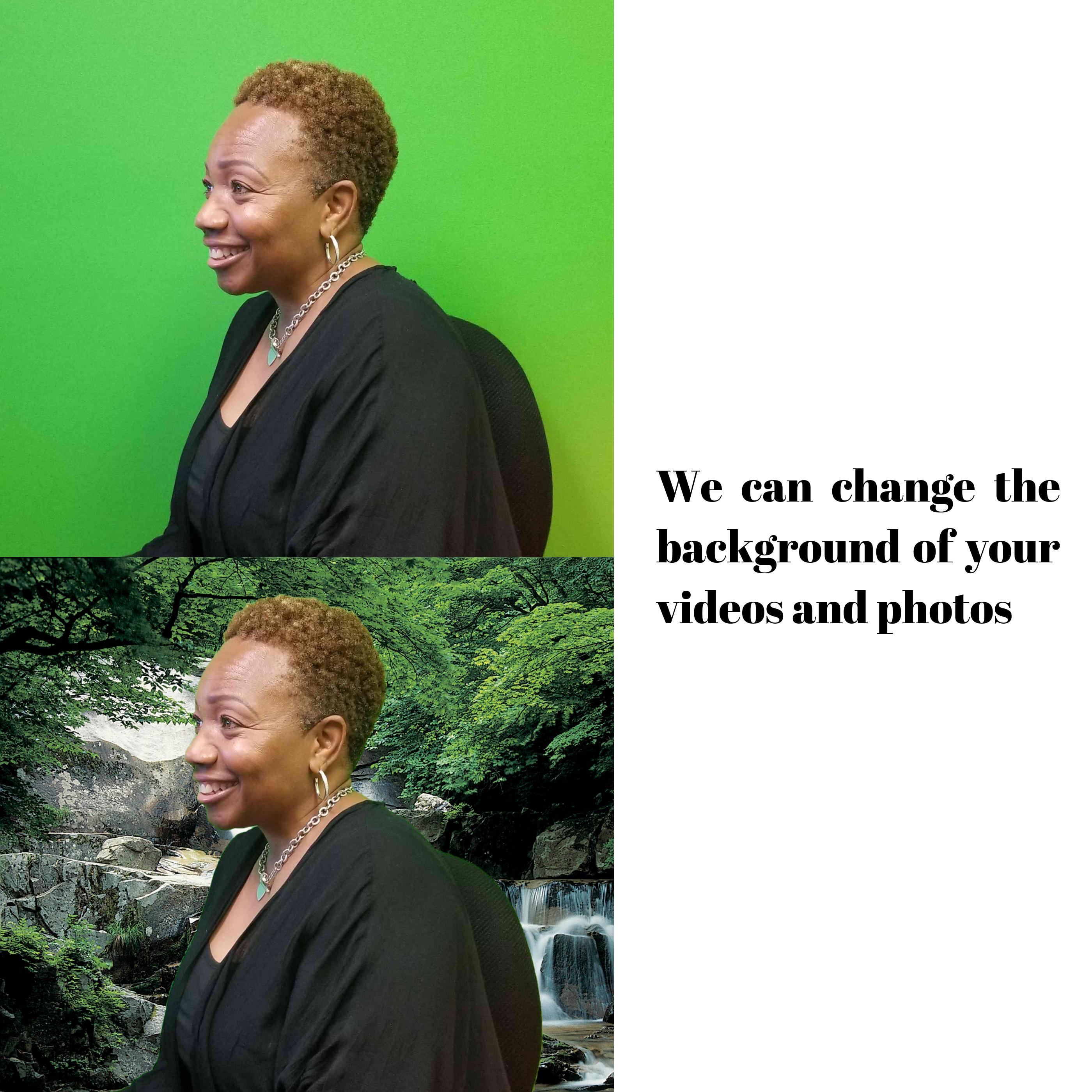 Green Screen Backdrop Edit