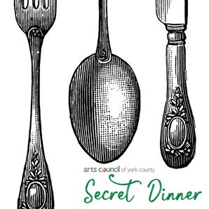 Secret Dinner An evening featuring a gourmet dinner, an art auction, and live music