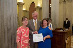 Governor Presents Historic Preservation Award to Historic Rock Hill