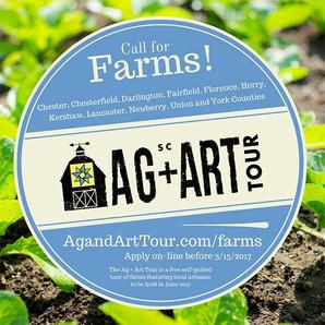 South Carolina Ag&Art Tour Call for Farms