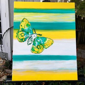 Moth painting 24x16