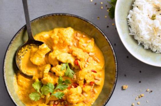 Poulet an Thai Currysauce