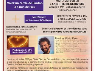 Cercle de pardon et conférence sur les 4 accords toltèques
