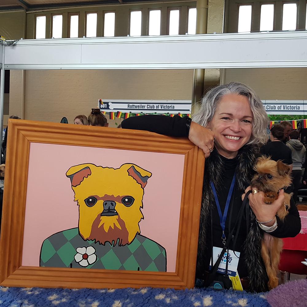 Wonton with her portrait