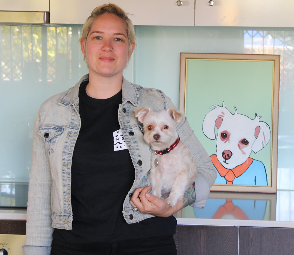 Lucy from the Sugarcanes gave her parents this portrait of their dog Tilly for a housewarming present