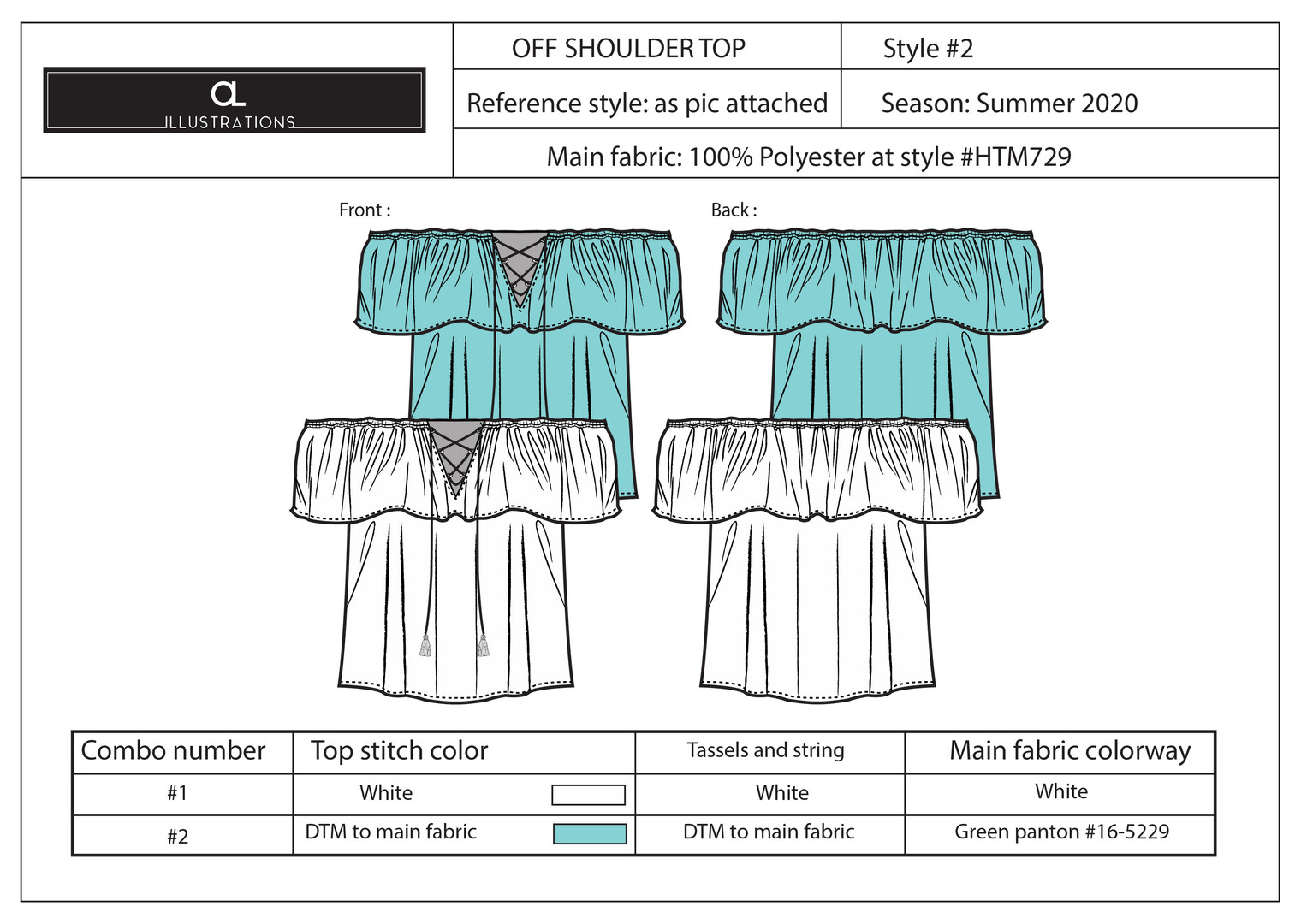 Off the Shoulder Top Layout