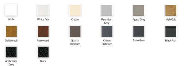 colour range we supply for windows and doors