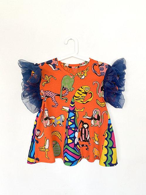 Upcycled Ruffle T-Shirt