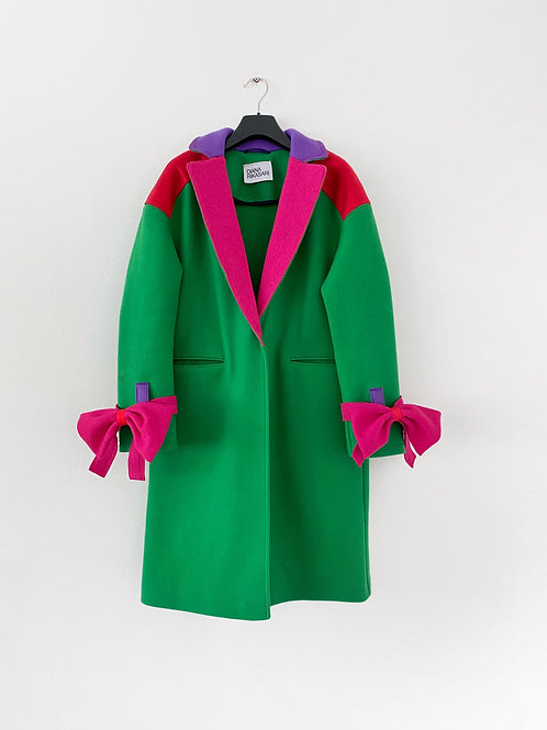 Upcycled Colorblock Coat