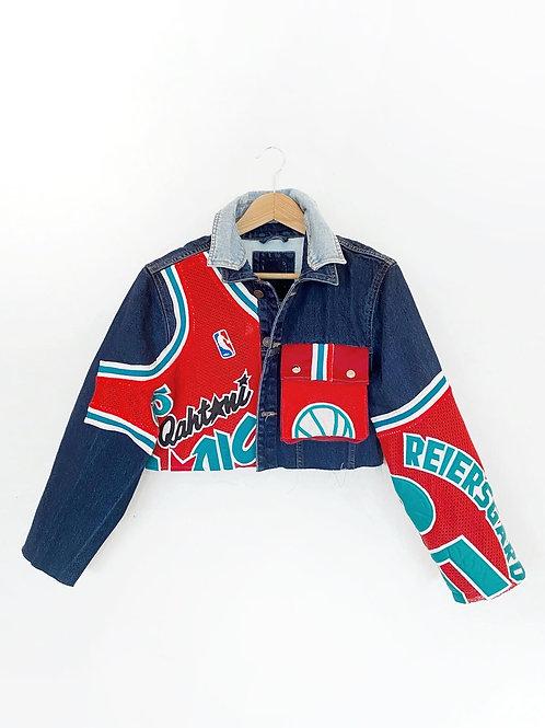 Upcycled Cropped Denim Jacket