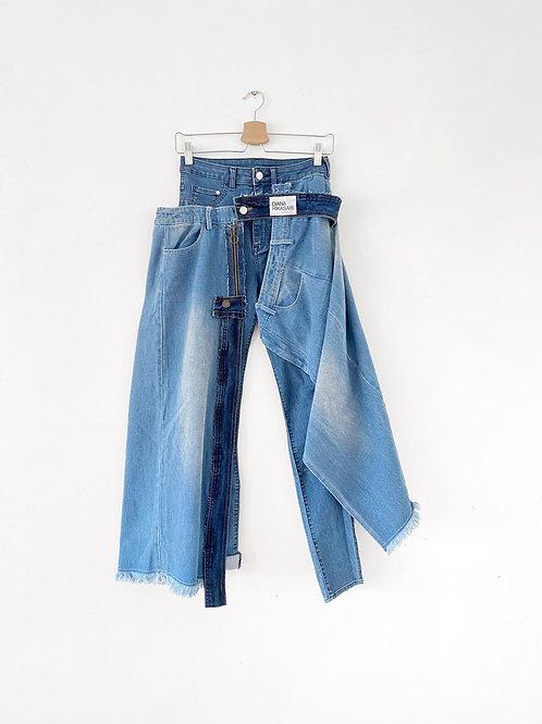 Reworked Denim Pants