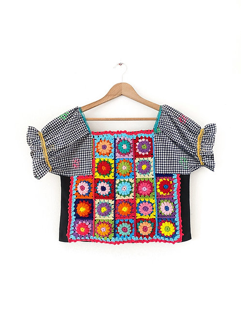 Upcycled Crochet Top