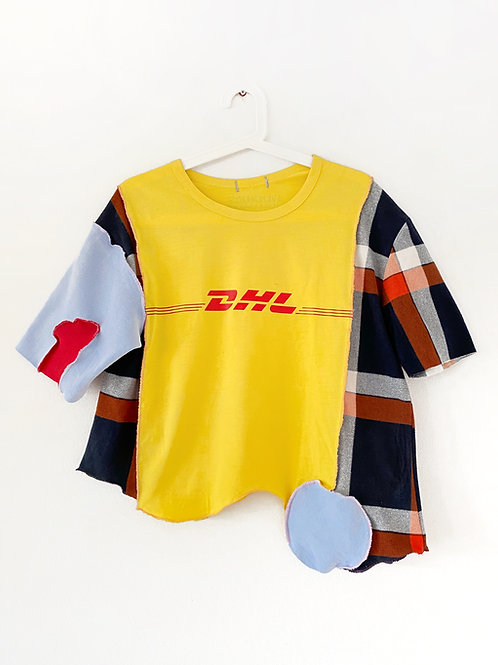 Upcycled DHL T-Shirt