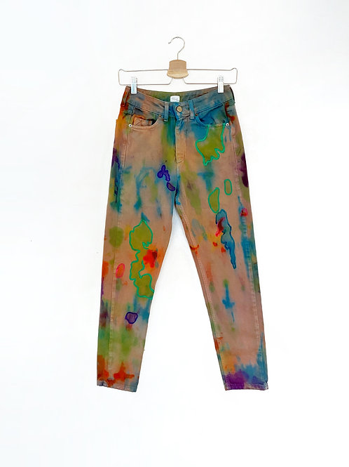 Upcycled Tie Dye Jeans