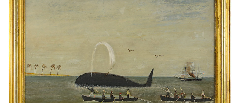 South Pacific Whaling Scene
