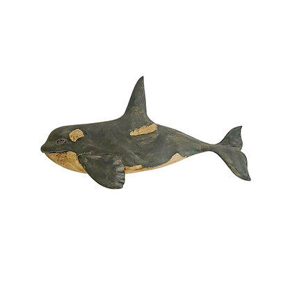 Carved and Painted Killer Whale plaque by Wendy Lichtensteiger