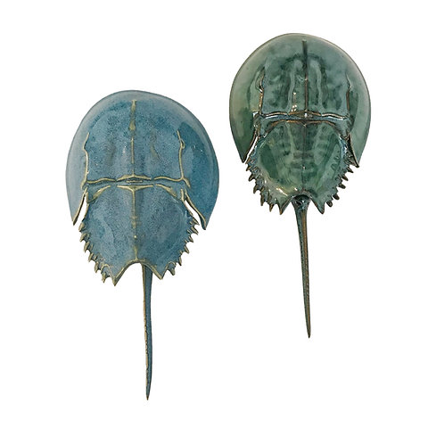 Ceramic Horseshoe Crabs by Mark Rea