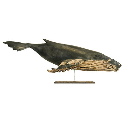 Full-Body Finback Whale by Wendy Lichtensteiger
