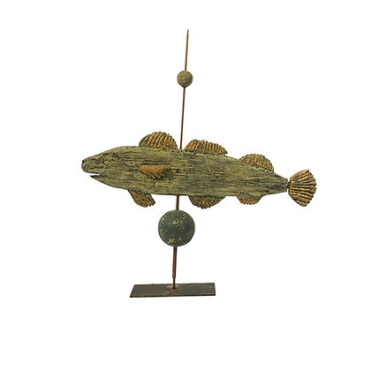 Carved and painted fish weathervane by Steve Hazlett