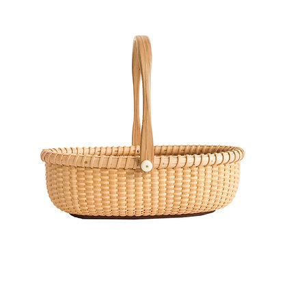 Miniature open oval Nantucket Basket by Bill and Judy Sayle