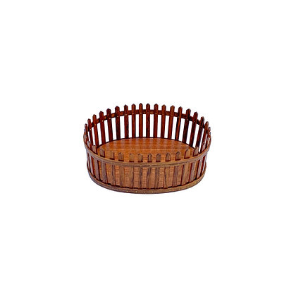 Miniature Rosewood Needle work basket by Bill Sayle