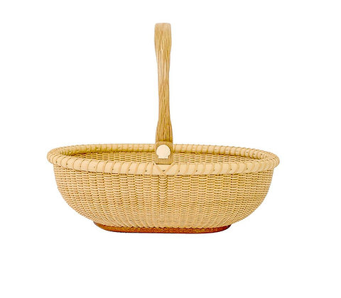 Shallow Oval Nantucket Lightship Basket by Bill and Judy Sayle