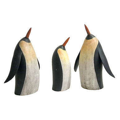 Hand Carved Penguins by Will Kautz