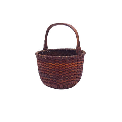 Small Round Nantucket Lightship Basket Attributed to Captain Thomas James