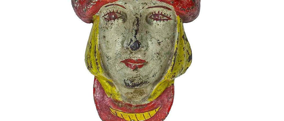 Cast Iron Carousel Ornament of a Woman in a Turban