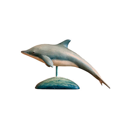 Miniature Bottle Nose Dolphin , Hand Carved and Painted my Frank Finney