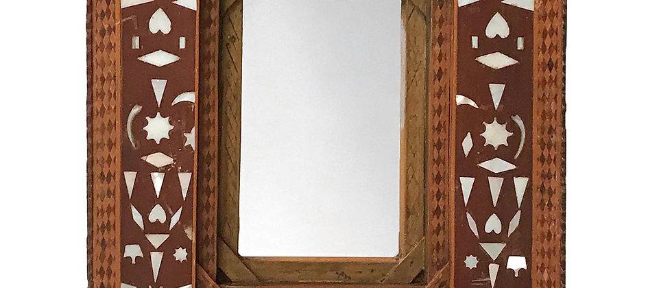 Folk Art Mirror with Inlay Design