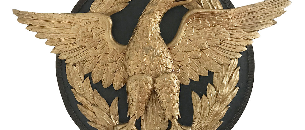 Relief Carved Eagle Roundel