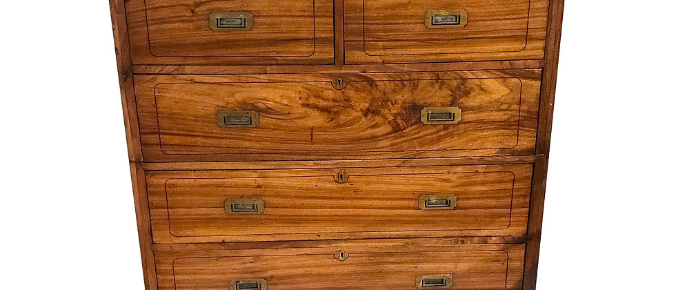 Chinese Export Camphor Wood and Brass Bound Chest