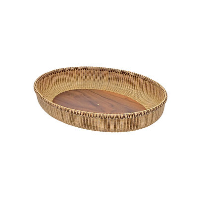 """21""""Oval Nantucket Basket Tray by Don and Peggy Alexander"""