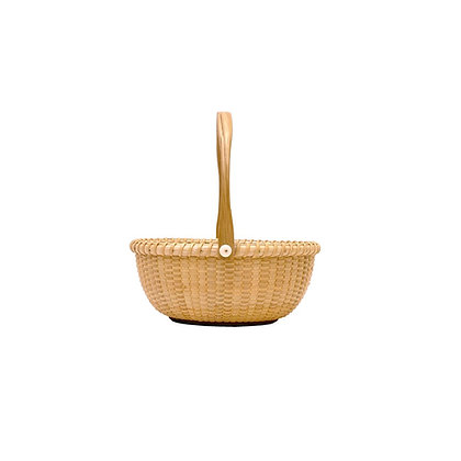 4 inch Miniature Oval Nantucket Basket by Bill and Judy Sayle