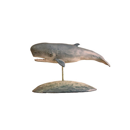 Miniature Pygmy Sperm Whale, Hand Carved and Painted my Frank Finney