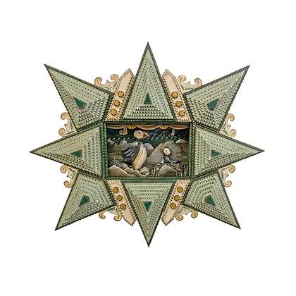 """Nesting Puffins"" Tramp Art Diorama by Angela Dow"