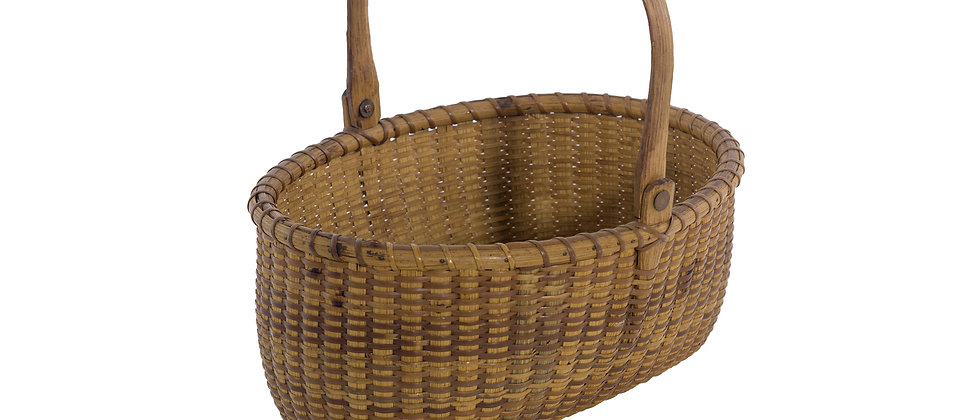 "9 ½"" Open Oval Nantucket Lightship Basket by Jose Reyes"