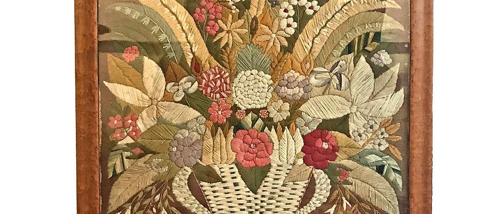 Woolie - Woolwork of a Flower Arrangement c. 1875