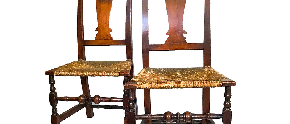 Pair of Queen Anne Chairs, Probably Nantucket