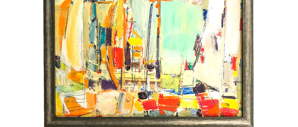 "Harbor Scene Painting ""Martha's Vineyard"" by Vaclav Vytacil"