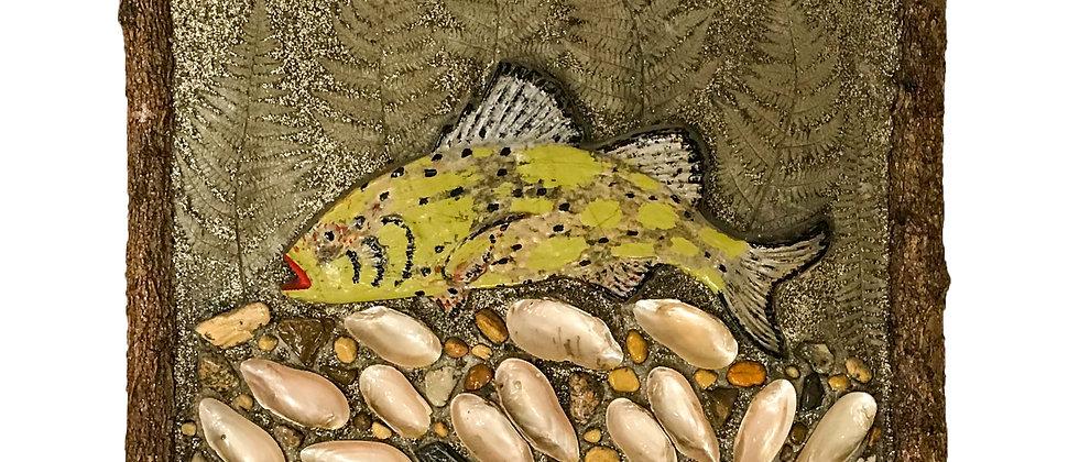 Adirondack Style Fish Plaque